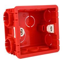 Регулируемая Монтажная коробка 86 Тип 86 мм* 85 мм* 50 мм переключатель и гнездо коробка красный/белый 2 цвета Led шаг лестницы освещение Монтажная коробка