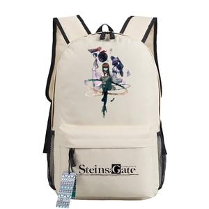 Image 2 - Mochila de Cosplay Steins Gate, bolso para adolescentes, mochila de Anime Oxford, bolsa de viaje Unisex para ordenador portátil, regalo
