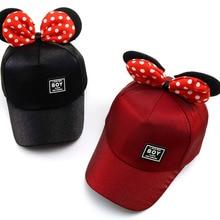 Children Snapback Hat Caps Baseball-Cap Mickey Girls Bone Minnie Kids Adjustable Fashion