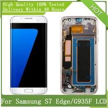 "Pantalla LCD SUPER AMOLED S7 Edge G935 G935f, 5,5 "", montaje de digitalizador táctil, repuesto + Paquete de Servicio"