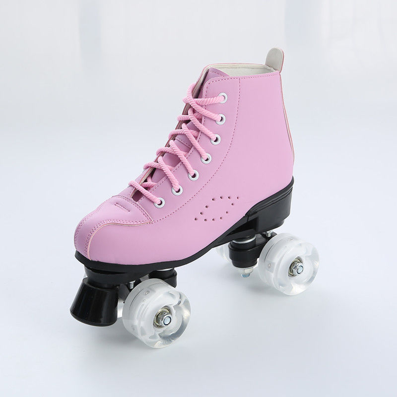 High-top Roller Skates Four-Wheel Roller Skates Womens Classic Roller Skates Premium PU Leather Rink Skates for Woman Girls Unisex