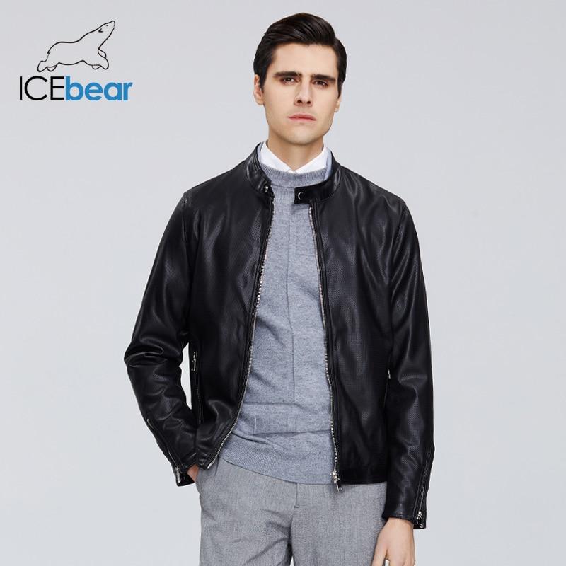 ICEbear 2020 New Men's Leather Jacket Men's Spring Coat Stylish Casual Men's Jacket High-quality Men's Clothing MWP20001D