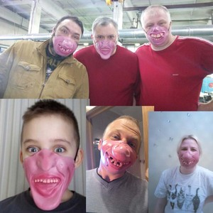Image 5 - Забавная маска для взрослых для вечерние, латексный клоун, косплей, Полулицо, фотография, вечевечерние НКА, Рождество, подарок на день рождения, игрушка