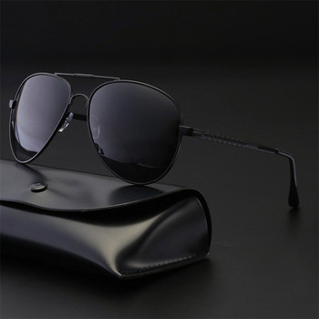 2019 New  Mens Glasses Outdoor Driving Polarized Sunglasses man Popular Big Metail Frame Aviation Classic Sun for male