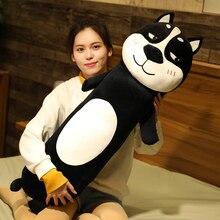 Long Black Husky Plush Toys Stuffed Pause Office Nap Cute Toy Animals Plushies Kawaii Soft Plushie for Children AP