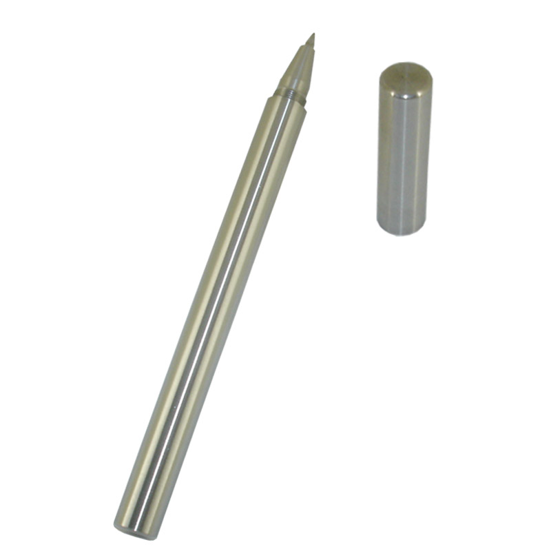 ACMECN Stainless Steel 0.5mm Gel Ink Pen No Clip Unique Design Liquid Ink Pens 48g Heavy Rollerball Pen Luxury Stationery Gifs