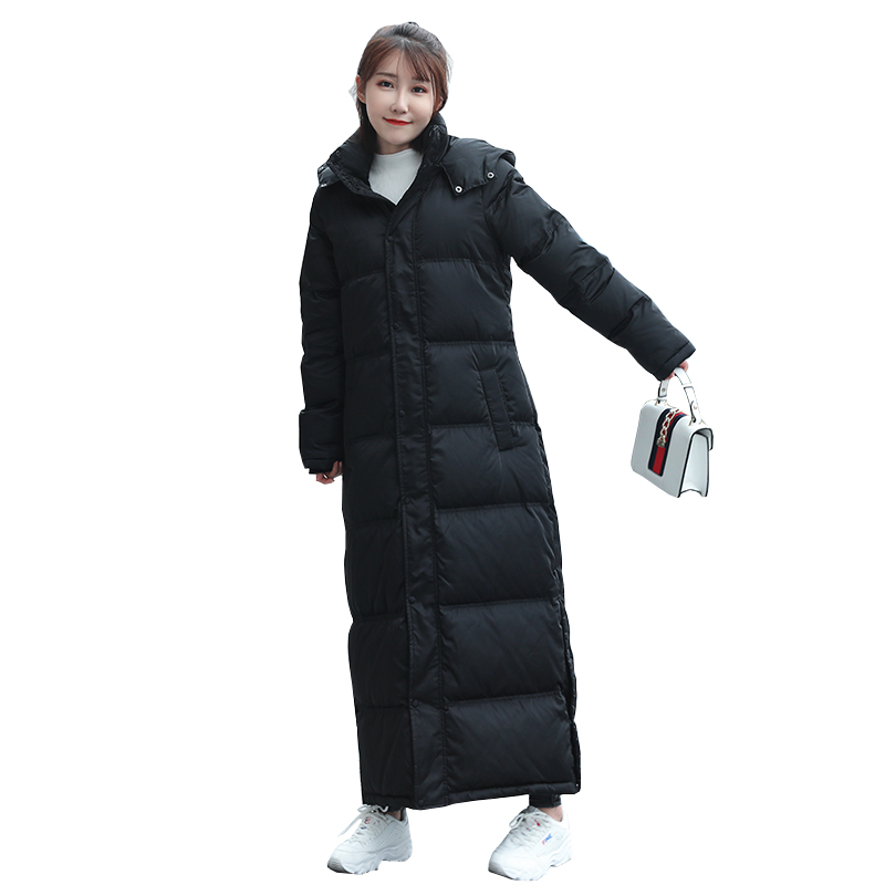 2019 White Duck   Down   Jacket Women X-Long Women's Winter   Coat   Korean Thick Puffer   Down     Coats   Female Jacket Snow Outwear