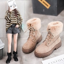 Winter New Luxury Women Snow Boots Ankle Fashion Elegant Boots Women High-top Plush Warm Shoes Woman Lace-up Non-slip haraval handmade winter woman long boots luxury flock round toe soft heel shoes elegant casual warm retro buckle solid boots 289