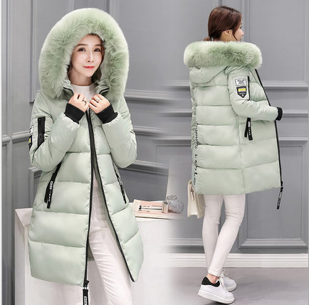 2020 New Fashion Women Winter Jacket With Fur Collar Warm Hooded Female Womens Winter Coat Long Parka Outwear Camperas