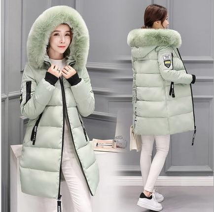 2020 New Fashion Women Winter Jacket With Fur Collar Warm Hooded Female Womens Winter Coat Long Parka Outwear Camperas