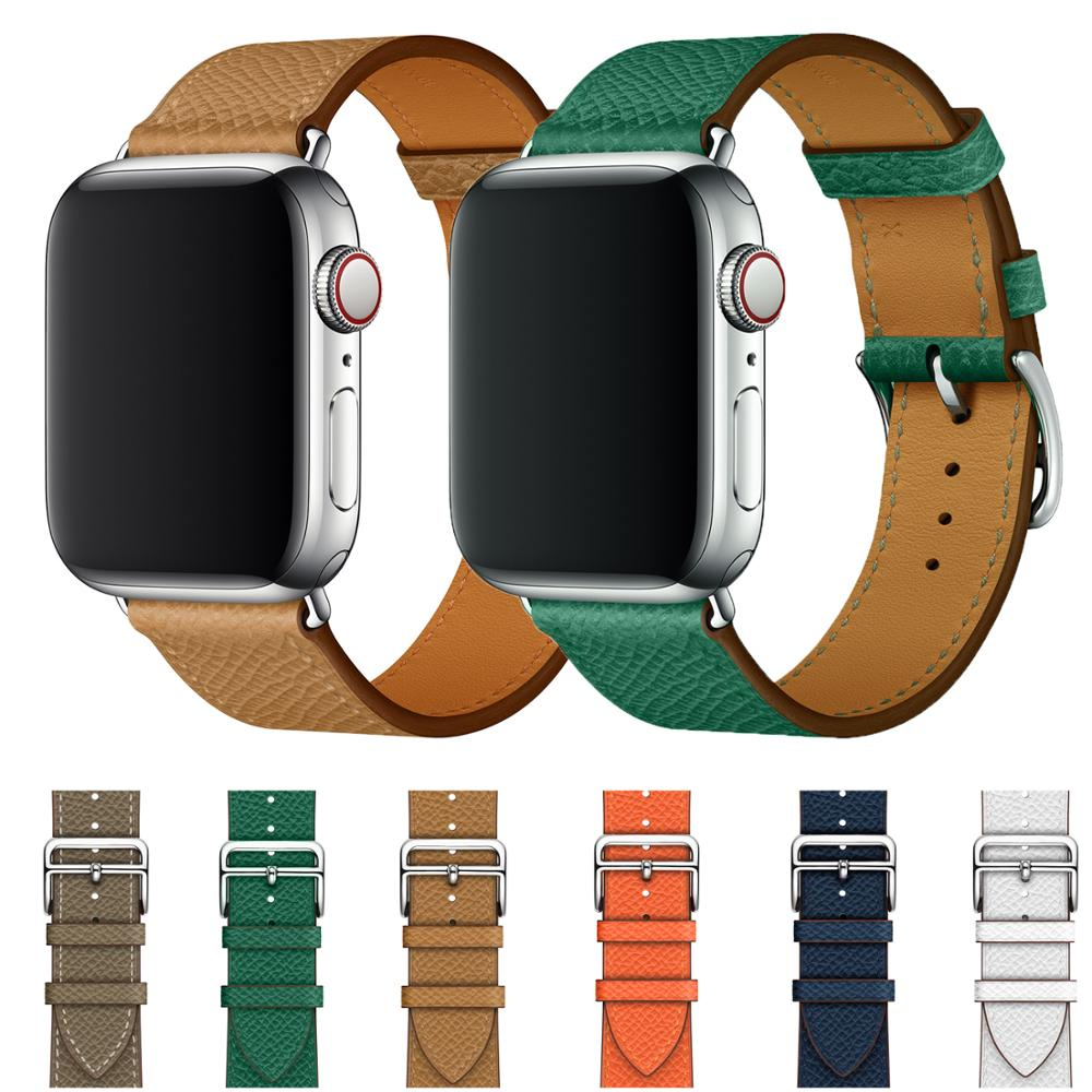 IWatch Band Genuine Leather Replacement Band Compatible With Apple Watch Series 1/2/3 42mm 38mm Iwatch Strap Series 4 40mm 44mm