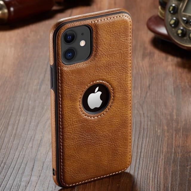 Pour iphone 11 11 Pro 11 Pro Max étui de luxe en cuir d'affaires couture housse pour iphone XS Max XR X 8 7 6 6S Plus étui 6