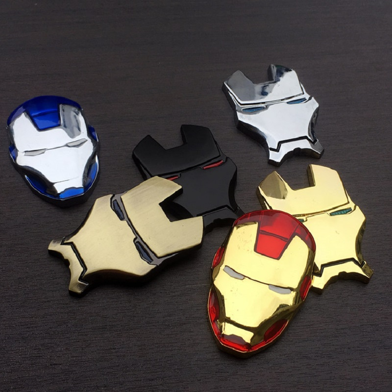 Image 4 - 3D Chrome Metal Iron Man for Car Emblem Stickers Decoration The Avengers Decals Exterior Accessories Silver Gold Car Styling-in Car Stickers from Automobiles & Motorcycles