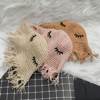 Summer and Autumn Outdoor Korean-style Cute Sweet Princess-Style Children Hand-woven Foldable Sun-resistant Female Baby Hat