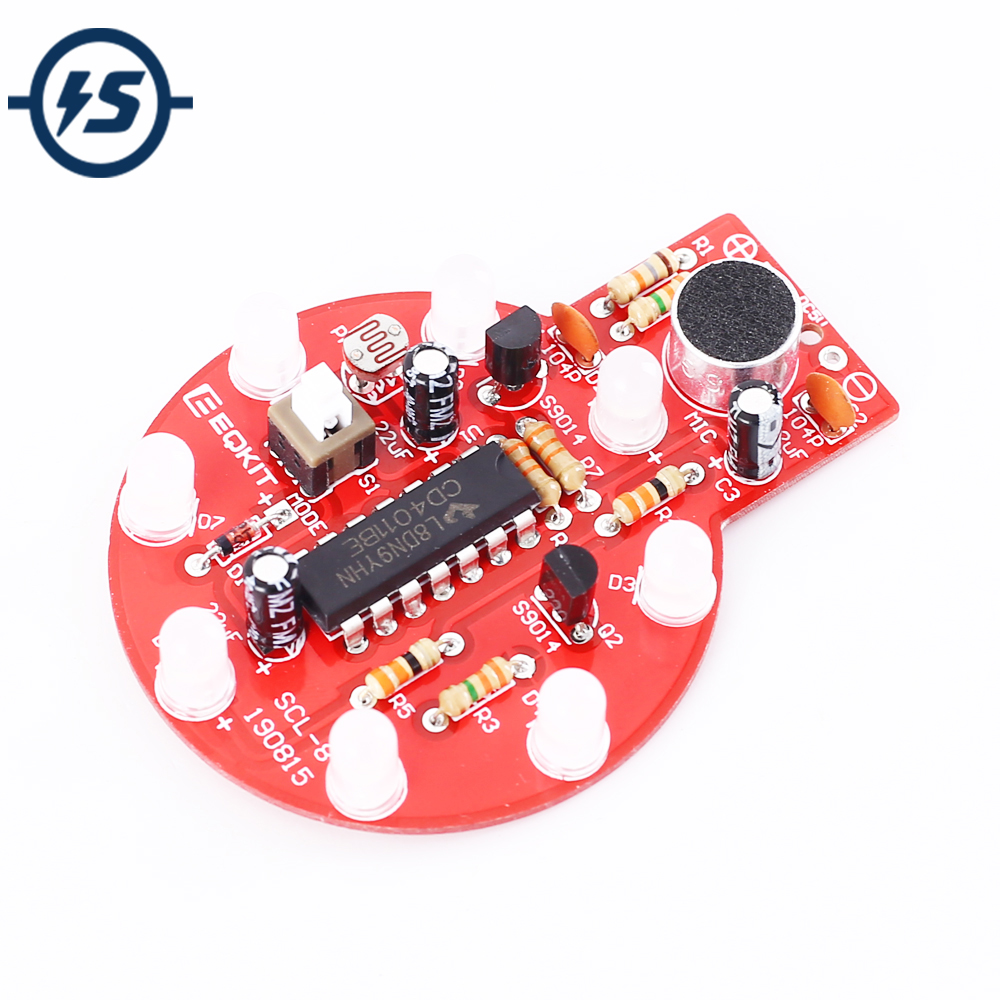 DIY Kit Electronic Sound Light Controller LED Delay Light Voice Controlled Melody Light Audio Indicator