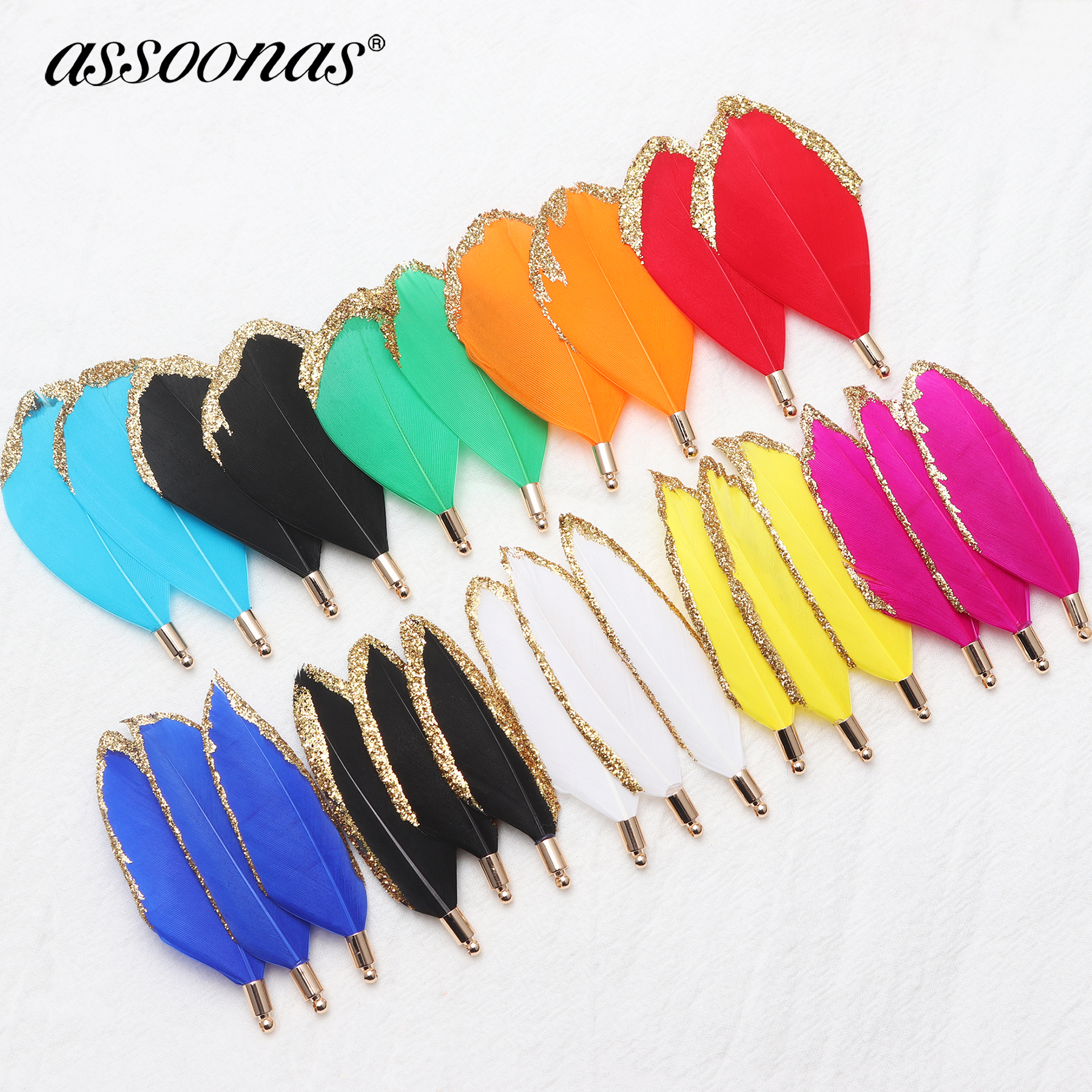 Assoonas M546,feather Accessories,jewelry Accessories,charm,hand Made,diy Earrings,jewelry Findings,jewelry Making,10pcs/lot