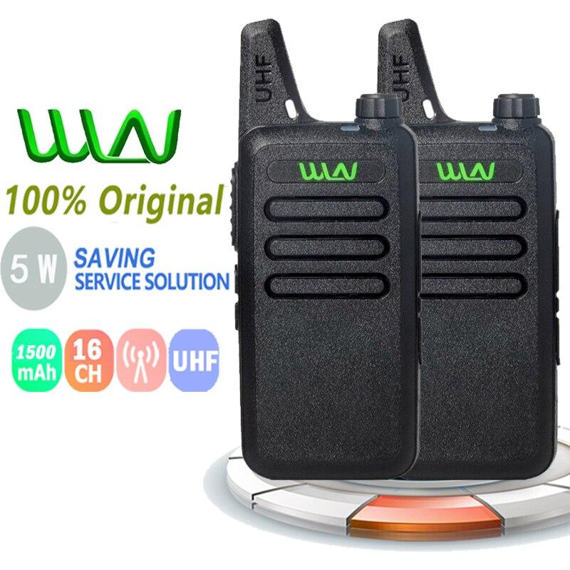 2PCS New WLN Kd-C1 Walkie Talkie Mini Two Way Radio 5W UHF 400-470MHz 16CH Handheld High Quality New Walkie Talkies For Kids Toy