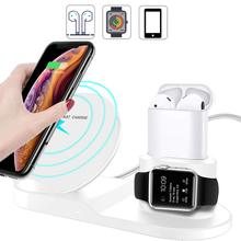 Wireless Charger,Qi Fast Charger Stand for iPhone Huawei Charging Dock Holder Station Apple iWatch Series