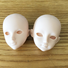 2pc/lot Soft DIY High Quality Practice Makeup Doll Heads For 1/6 BJD as For 29cm Doll's Practicing Dress Up Head Without Hair 5pieces lot soft plastic open eye practice makeup doll head 1 6 white double fold eyelid diy heads for barbies bjd make up