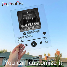 Spotify Music dysku tanie tanio CN (pochodzenie) Nowoczesne Rectangle Akrylowe 1pcs wedding decoration Baby Shower valentine s Day gift Album Board send us code photo artist info