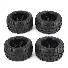 цена на 4Pcs 150mm Wheel Rim and Tires for 1/8 Monster Truck Traxxas HSP HPI E-MAXX Savage Flux Racing RC Car Accessories