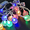 Gypsophila kula kąpielowa girlanda żarówkowa Led Lights Fairy Garland USB zasilany z baterii ozdoby choinkowe dla domu na zewnątrz DIY wodoodporna