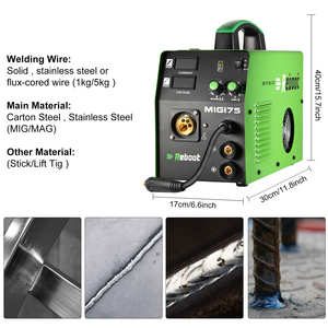 Image 4 - MIG Welder MIG 175 Gas/Gasless DC 220V2 in 1 Flux Core Wire And Solid Wire IGBT Inverter Welding Machine MMA MIG MAG