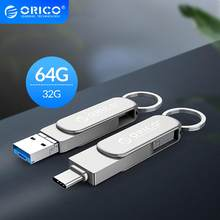 ORICO 3-In-1 OTG USB Flash sürücü tipi C USB3.0 mikro-b 64GB 32GB USB3.0 flash bellek USB sopa Flash bellek için telefon/Tablet/PC(China)