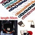 Разноцветные акриловые пластиковые звенья, цепочка в ряд, овальная цепочка «сделай сам», ожерелье, браслет 50 см