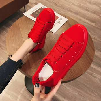 2020 Fashion Women Platform Sneakers Women Lace-up Casual Shoes Breathable Comfortable Flats Trainer Shoes Zapatos De Mujer