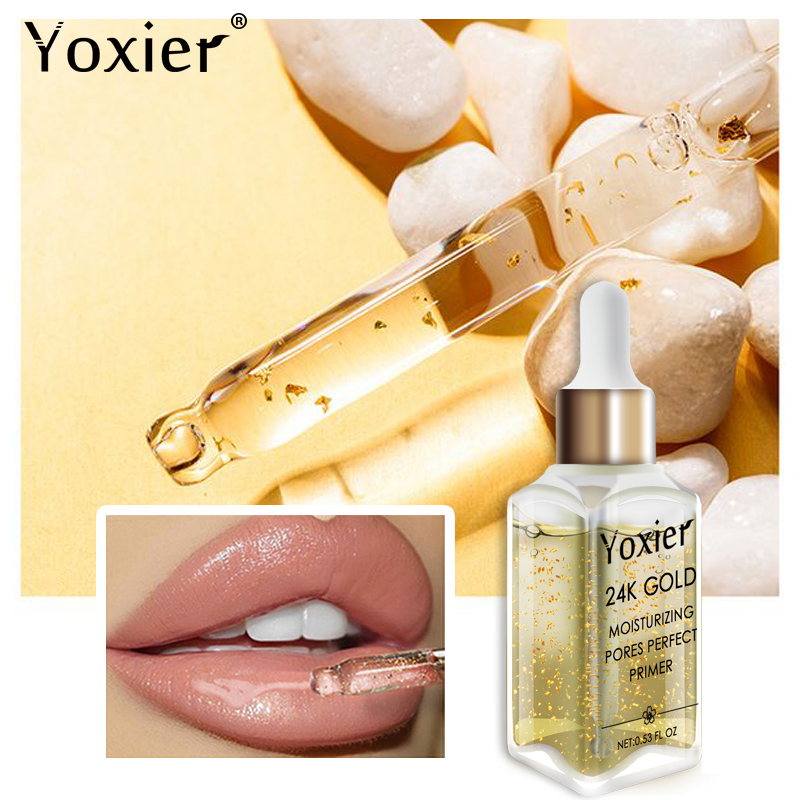 Image 3 - Yoxier Makeup Base Moisturizing Essence 24k Gold Elixir Oil Control Professional Matte Serum Series Brand Foundation Primer 1pcs-in Primer from Beauty & Health