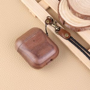 Image 5 - Wooden Case For AirPods Case For AirPods 2 Cover Nature Wood Original Handcrafted Protect Cover For Airpods Premium Leather Sewn