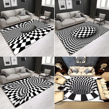RULDGEE Printed Area Rug 3D HOME Letter Printed  Alfombra Room Area Rug Floor Carpet For Living Room Bedroom Home Decorative Pad