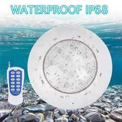 RGB pływanie prowadził Światła do basenu W 18W 24W 36W na zewnątrz podwodne światło z pilot zdalnego sterowania na ścianie do montażu na powierzchni IP68 wodoodporna AC12V w Lampy podwodne LED od Lampy i oświetlenie na