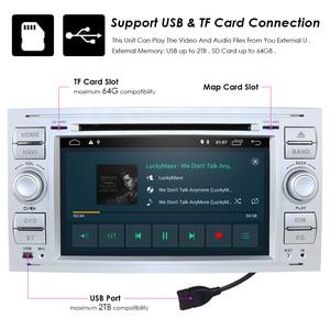 Image 4 - מולטימדיה לרכב נגן GPS Android10.0 2 דין לפורד/מונדיאו/פוקוס/מעבר/C MAX רכב רדיו Bluetooth DVR אוטומטי רדיו אודיו DAB מפה