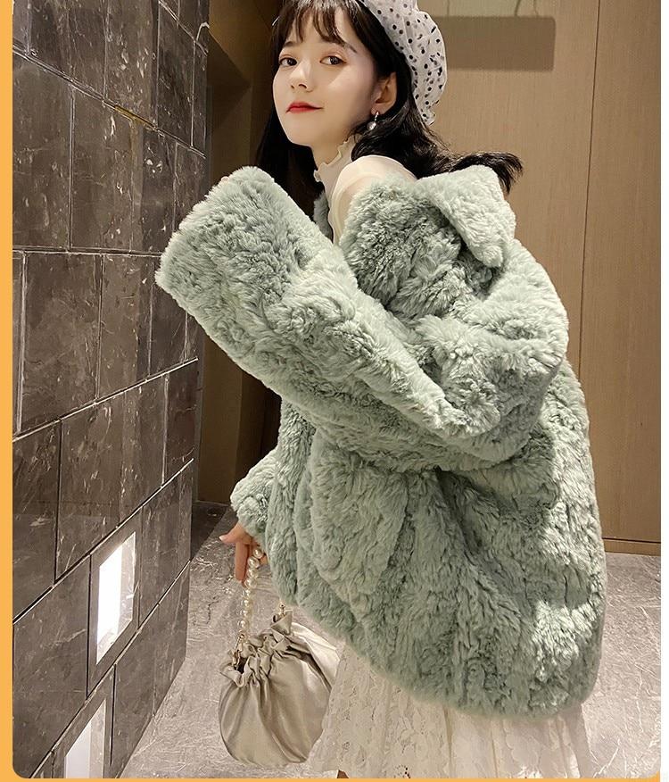 H569e08714c9f48dbbefaa787e9d6ef1fT Plush jacket women winter short 2021 new Korean version of loose lamb wool faux fur leopard print fur coat women winter