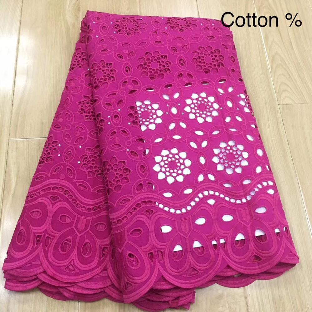 5 Y Swiss Lace Fabric 2019 Dubai Heavy Beaded Embroidery African Lace Fabrics 100% Cotton Swiss Voile Lace In Switzerland 13L081