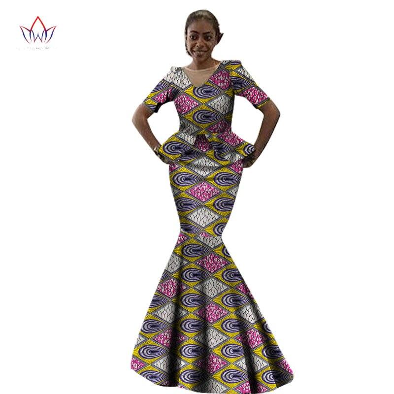 Африканская Женская одежда, повседневное женское Макси платье с коротким рукавом, африканская одежда с принтом, Длинные Вечерние Платья с ц...