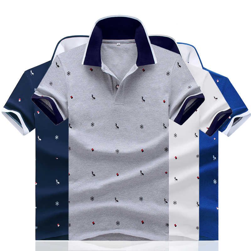 Ant Print Shirts for Men Summer Polo Shirt Short Sleeve Slim Fit Polo Casual Streetwear Tops Brand Men Golf Shirts Youth Tees