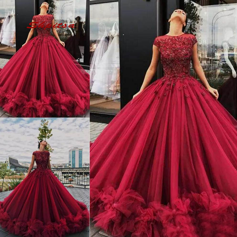Puffy Tulle Quinceanera robes 2019 princesse mascarade robe de bal bal doux 16 robes pour 15 ans