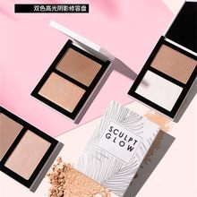 Double Head 3D Bronzer Highlighter For Face Makeup Stick Cream Texture Contour iluminador Makeup Highlighter Bronzer