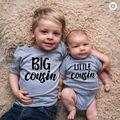 Большой маленький брат топы для новорожденных и для малышей и детей постарше для мальчиков и девочек, с буквенным принтом, комбинезон, гимна...