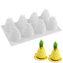 Silicone Molds Baking 3D Pineapple Shape Mousse Cake Mold Reusable Candy Chocolate Dessert Molds Hot/(China)