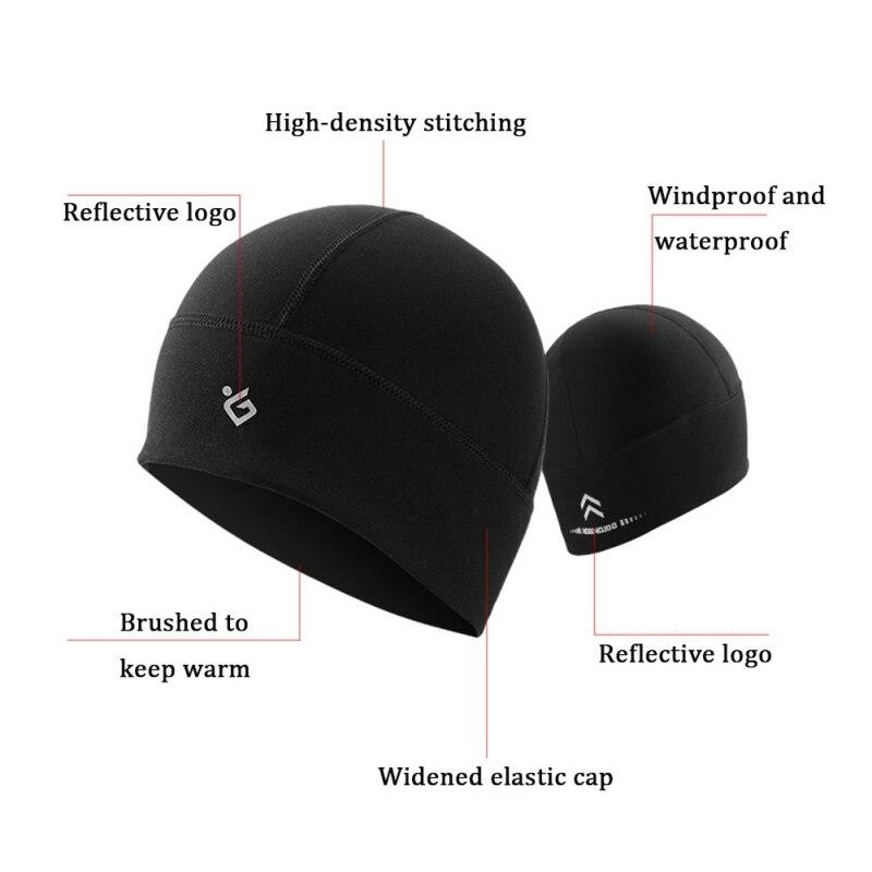 Winter Unisex Cycling Windproof Cap Fleece Helmet Liner Outdoor Sport Running Skiing Warm Anti-Cold Hats Headwear