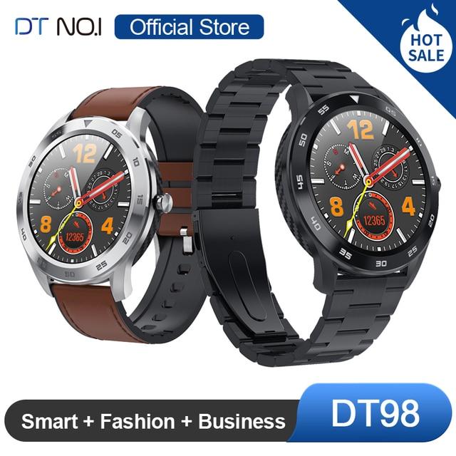 $ US $38.99 DTNO.I No.1 DT98 Smart Watch IP68 Waterproof 1.3 Full Round HD Screen ECG Detection Multi Dials Smartwatch Fitness Tracker Men