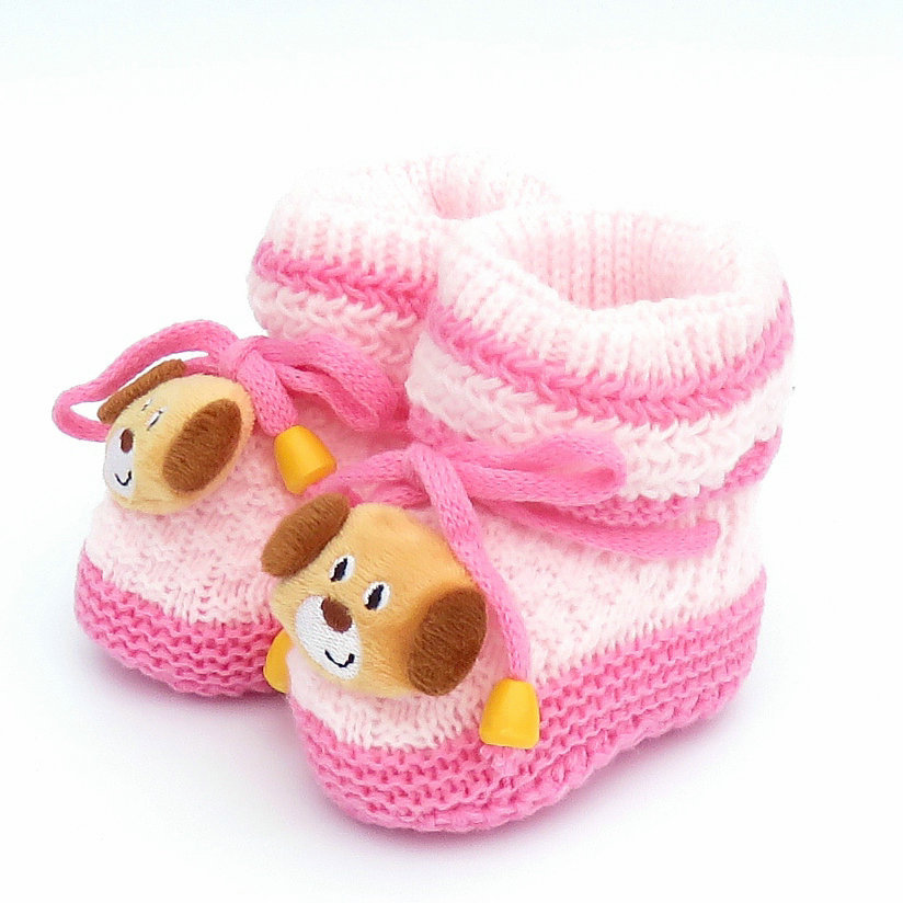 Unisex Baby Shoes For Boy And Girls Newborn Bootie Winter Warm Infant Toddler Crib Shoes Knitted Wool Floor First Walkers