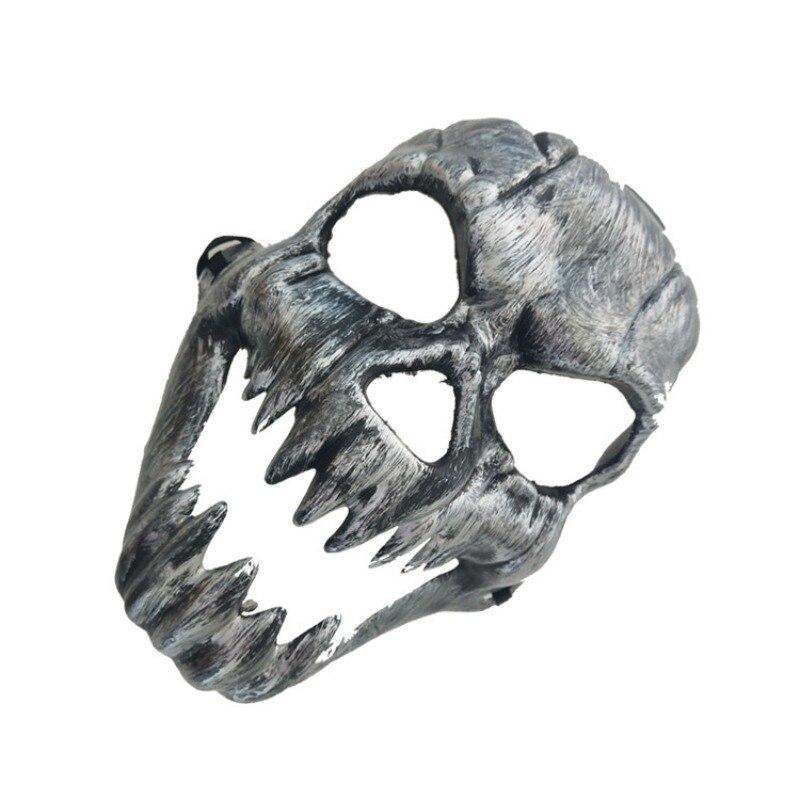 Хэллоуин металлический пластиковый череп маска Золото Серебро высокое качество полное лицо череп маски предметы для вечеринок бутафория д... - 2