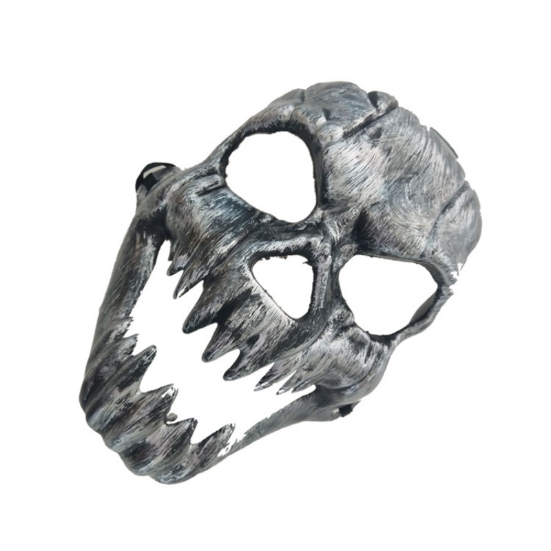 Halloween Metal Plastic Skull Mask Gold Silver High Quality Full Face Skull Mask Party Supplies Horror Props - 2