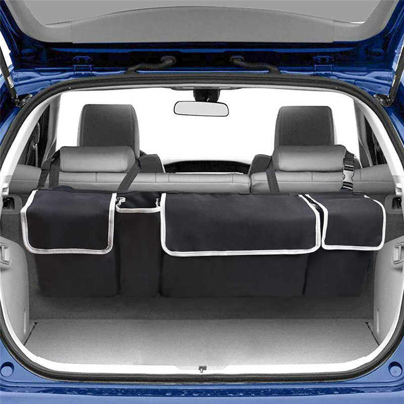 Huihom Car Seat Back Trunk Organizer Backseat Hanging Multi Pocket Storage Bag Automobile Travel Stowing Tidying Accessories