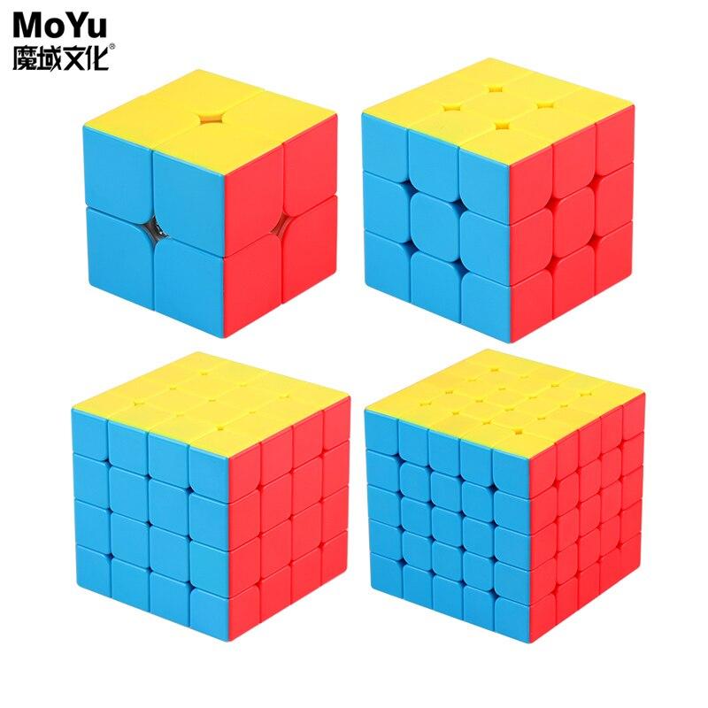 Moyu meilong 3x3x3 cubo mágico 4x4x4 velocidade cubo 2x2x2 cubo mágico cubos de quebra-cabeça skew pyramid cube brinquedo educacional para crianças